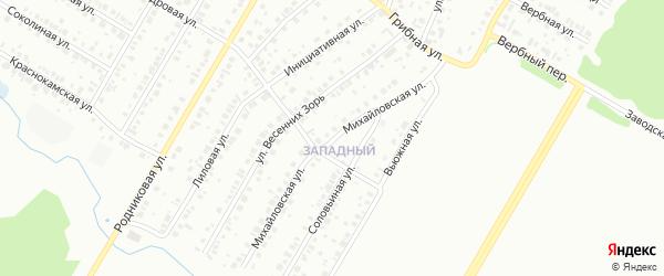 Михайловская улица на карте Нефтекамска с номерами домов