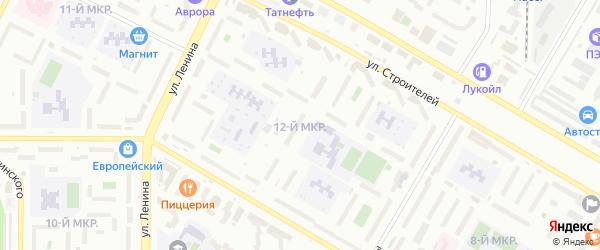 12-я улица на карте СНТ Родничка с номерами домов