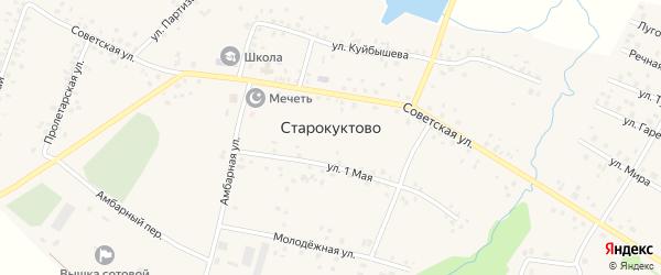 Юбилейная улица на карте села Старокуктово с номерами домов