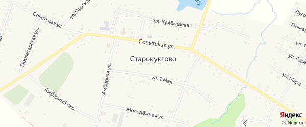 Улица Каракай на карте села Старокуктово с номерами домов