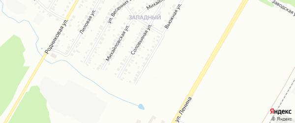 Вьюжная улица на карте Нефтекамска с номерами домов