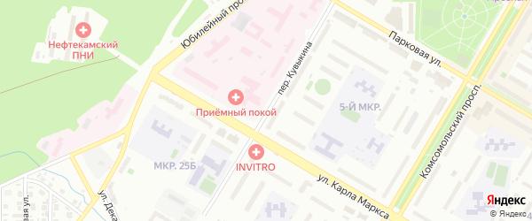 Переулок Кувыкина на карте Нефтекамска с номерами домов