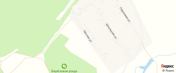 Лесная улица на карте села Алексеевки с номерами домов