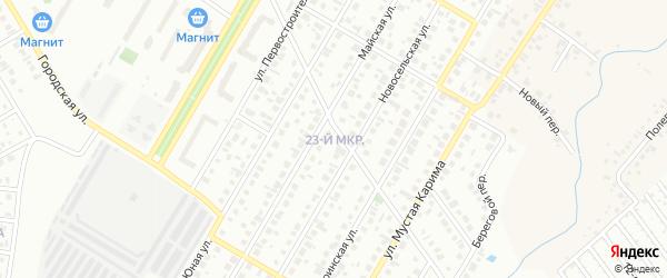 23-й микрорайон на карте Октябрьского с номерами домов