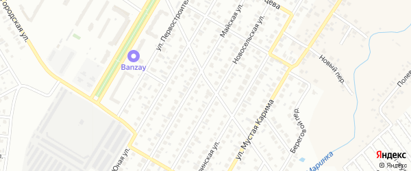 23-я улица на карте СНТ Восхода НГДУ с номерами домов