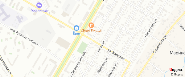 Улица Первостроителей на карте Нефтекамска с номерами домов