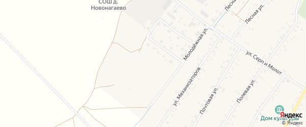 Новая улица на карте села Новонагаево с номерами домов