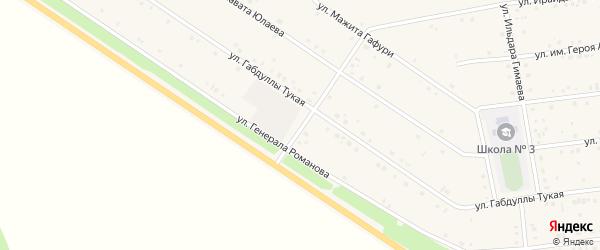 Улица Им Генерала Романова на карте села Бижбуляка с номерами домов