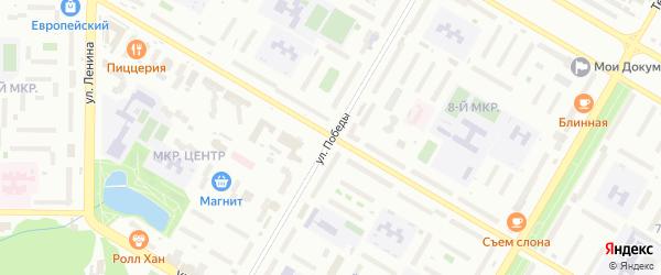 Улица Победы на карте Нефтекамска с номерами домов
