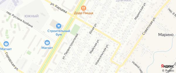 Юная улица на карте Нефтекамска с номерами домов