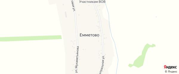 Центральная улица на карте села Емметово с номерами домов