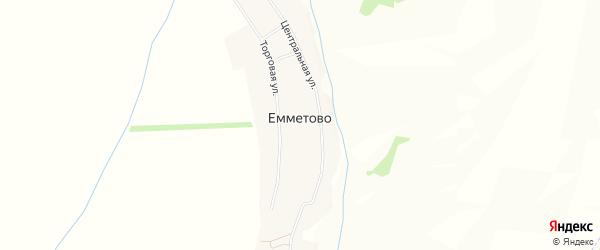 Карта села Емметово в Башкортостане с улицами и номерами домов