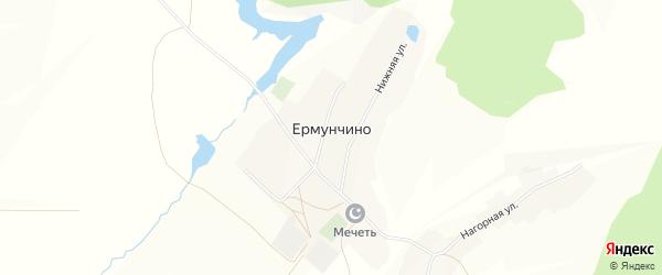 Карта села Ермунчино в Башкортостане с улицами и номерами домов