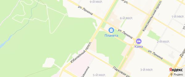 ГК N 4 Юбилейный ГСК на карте Юбилейного проспекта с номерами домов