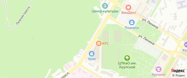 Юбилейный проспект на карте Нефтекамска с номерами домов