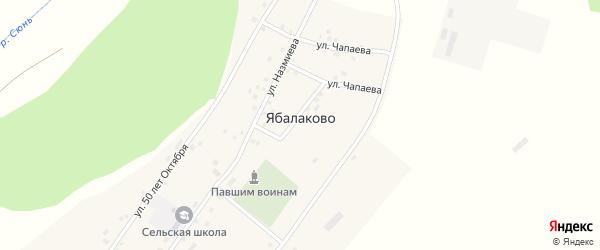 Улица Мира на карте села Ябалаково с номерами домов