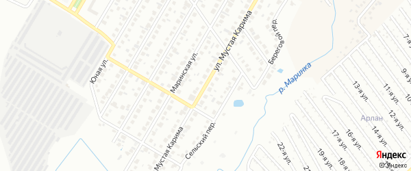Улица Мустая Карима на карте Нефтекамска с номерами домов