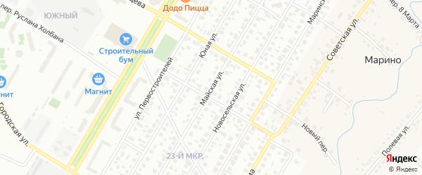 Майская улица на карте Нефтекамска с номерами домов