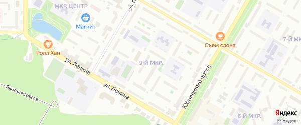 9-я улица на карте СНТ Восхода НГДУ с номерами домов