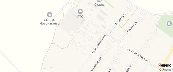 Улица Мелиораторов на карте села Новонагаево с номерами домов