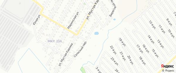 Сельский переулок на карте Нефтекамска с номерами домов