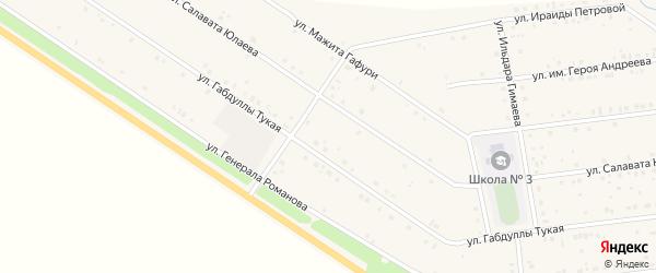 Им Г.Тукая улица на карте села Бижбуляка с номерами домов