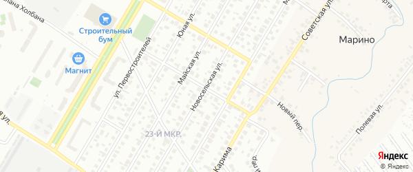 Новосельская улица на карте Нефтекамска с номерами домов