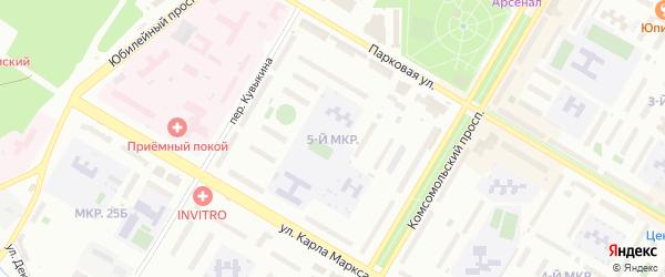 5-я улица на карте СНТ Энергетика СУ КГРЭС с номерами домов