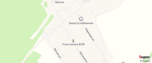 Парковая улица на карте села Алексеевки с номерами домов