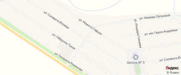 Улица Им Салавата Юлаева на карте села Бижбуляка с номерами домов