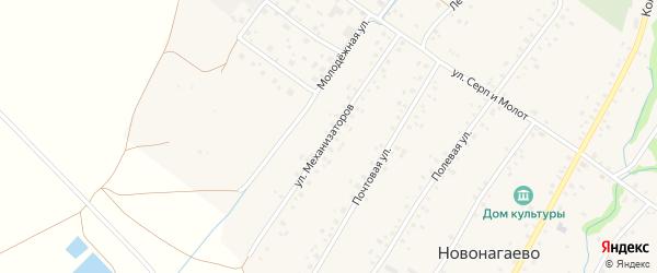 Улица Механизаторов на карте села Новонагаево с номерами домов