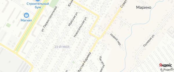 Маринская улица на карте Нефтекамска с номерами домов