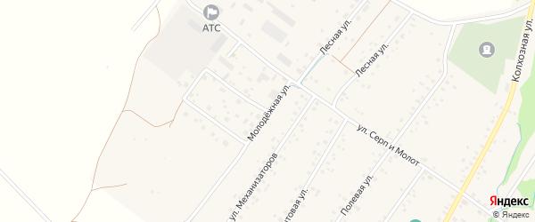 Молодежная улица на карте села Новонагаево с номерами домов