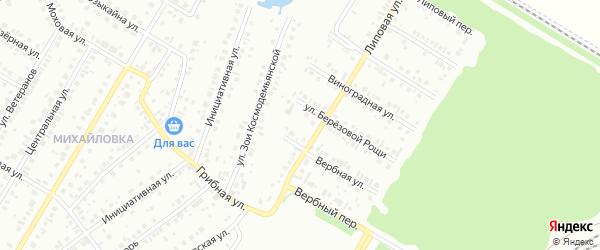 17-я улица на карте СНТ НАТП Южного с номерами домов