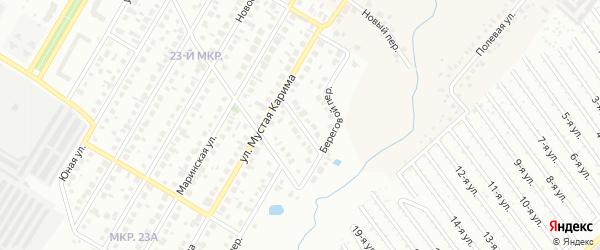 Народный переулок на карте Нефтекамска с номерами домов