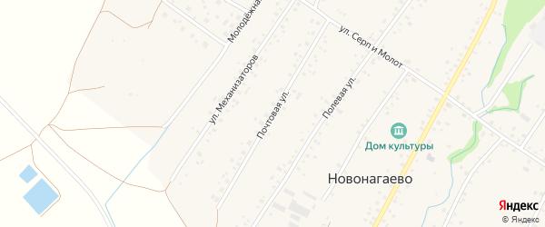 Почтовая улица на карте села Новонагаево с номерами домов