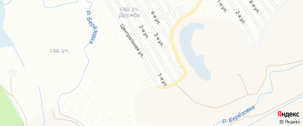 1-я улица на карте СНТ НАТП Южного с номерами домов
