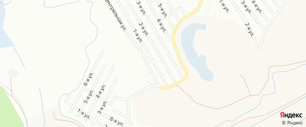 1-я улица на карте СНТ Нефтяника с номерами домов