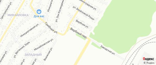Вербный переулок на карте Нефтекамска с номерами домов