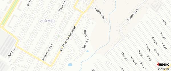 Береговой переулок на карте Нефтекамска с номерами домов