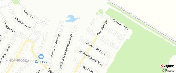 15-я улица на карте СНТ НАТП Южного с номерами домов
