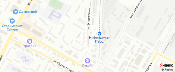 Улица Энергетиков на карте Нефтекамска с номерами домов