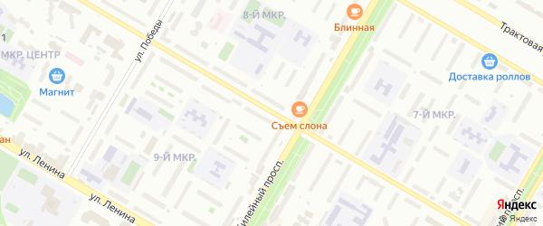 Социалистическая улица на карте Нефтекамска с номерами домов