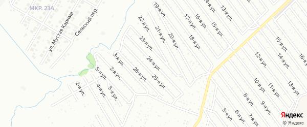 24-я улица на карте СНТ Арлана западной стороны с номерами домов