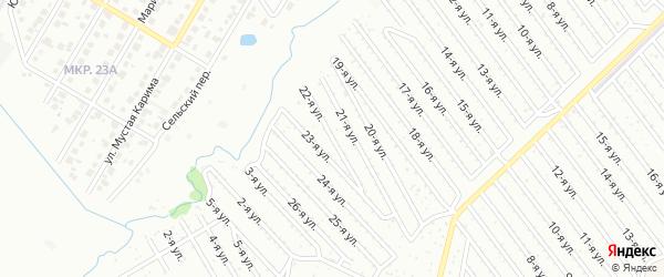 22-я улица на карте СНТ Арлана западной стороны с номерами домов