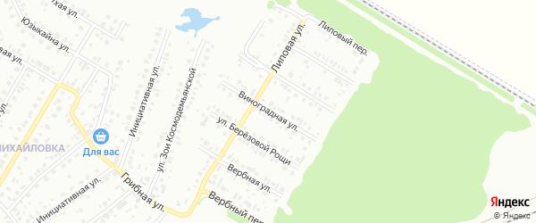 Виноградная улица на карте Нефтекамска с номерами домов