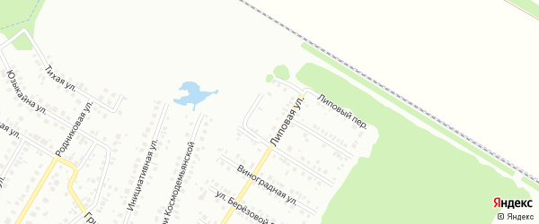 14-я улица на карте СНТ НАТП Южного с номерами домов
