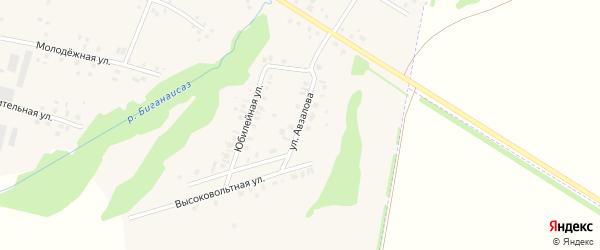 Улица Г.Авзалова на карте села Старокуктово с номерами домов