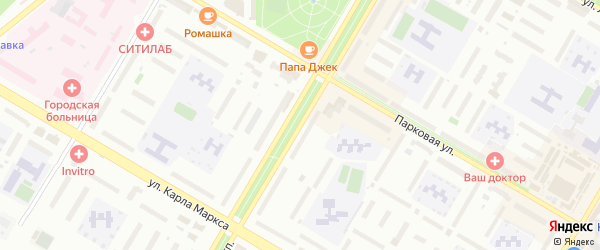 Комсомольский проспект на карте Нефтекамска с номерами домов