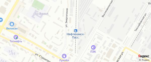 Станция Нефтекамск на карте Нефтекамска с номерами домов
